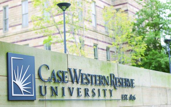 Case Western Reserve sign